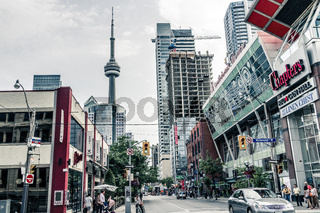 Street view of downtown Toronto