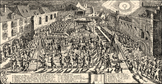 1627, Laying of the foundation stone of a Lutheran church in Regensburg, Germany