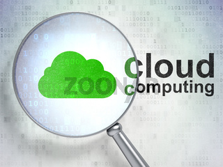 Cloud computing concept: Cloud and Cloud Computing with optical