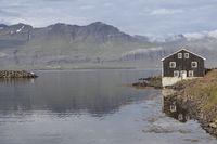 Einsames Haus, Djúpivogur, Island