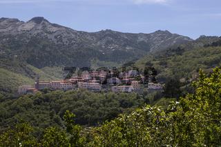 Das Bergdorf Marciana auf der Insel Elba, Toskana