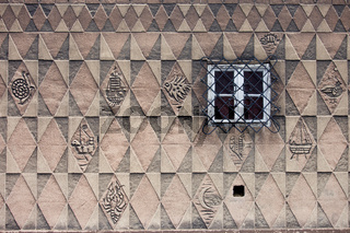 Pattern Design on House Wall