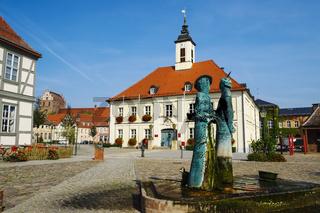 Rathaus Angermuende, Uckermark, Brandenburg, Deutschland