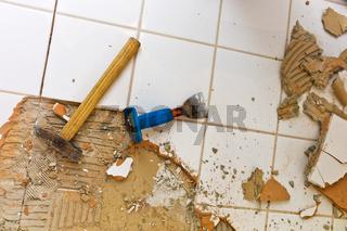 Badezimmer wird renvoviert