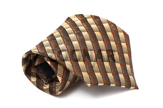 Trendy brown tie