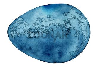 Blue Cosmic Egg