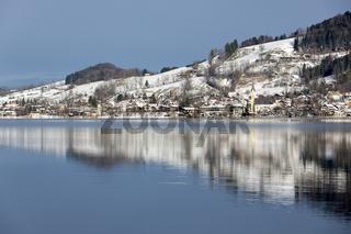 Der Schliersee im Winter, Bayern