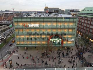 Elektrofachmarkt 'Saturn' in Hamburg