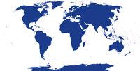 Welt Landkarte Silhouette