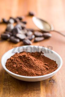 cocoa powder in bowl