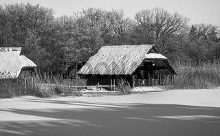 Ostsee - Bootshaeuser am Bodden