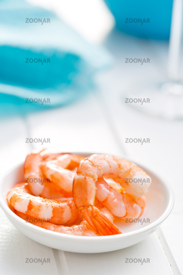 prawns in bowl