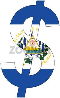 dollar - flag of el salvador