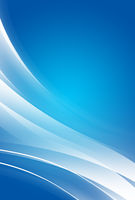 Abstract blue background with glowing diagonal white curves