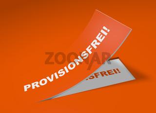 3D Etikett Orange - Provisionsfrei!