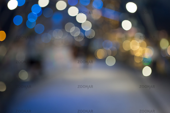 Defocused christmas sreet