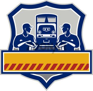 Train Engineers Arms Crossed Diesel Train Crest Retro