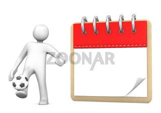 Manikin Football Note Pad