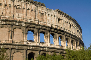 Outside View of Colosseum in Rome in Italy