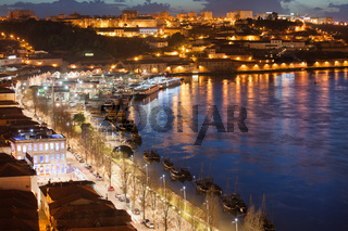 Vila Nova de Gaia by Night in Portugal