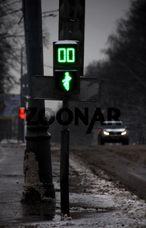 Gloomy winter street