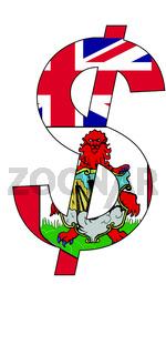 dollar - flag of bermuda