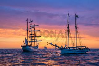 Segelschiff auf der Hanse Sail