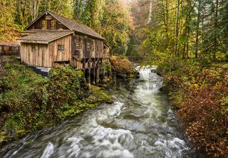 The Cedar Creek Grist Mill in Washington State.