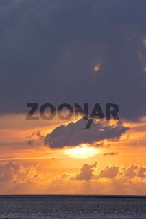 Sonnenuntergang in Büsum