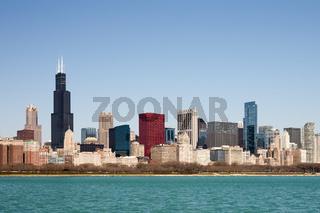 Chicago Skyline - seen from Lake Michigan