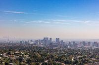 Skyline of downtown Los Angeles, California