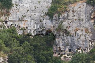 Nekropolis Pantalica Felswand