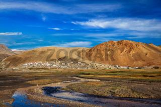 Korzok village at lake Tso Moriri, Ladakh