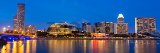 Singapore cityscape night