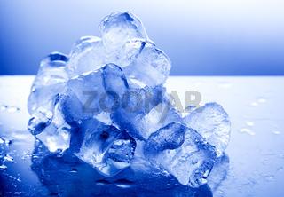 Melting ice cubes