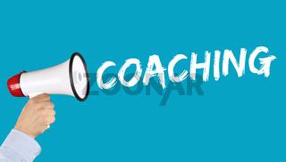 Coaching Beratung Schulung Personal Workshop Training Bildung Karriere aus Megafon