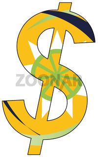 dollar - flag of Organisation of Eastern Caribbean