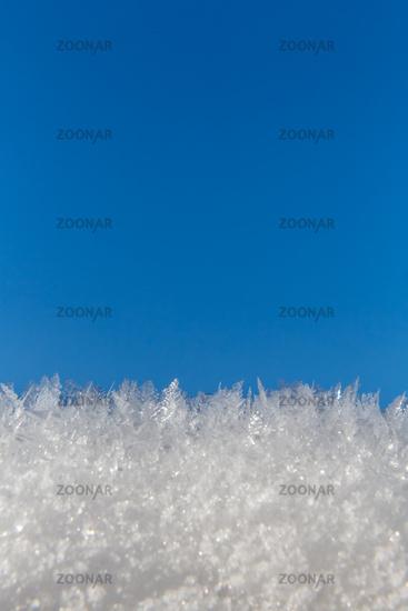 Eiskristalle Himmel hoch
