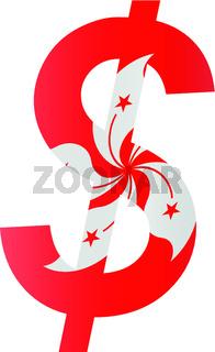 dollar - flag of hong kong