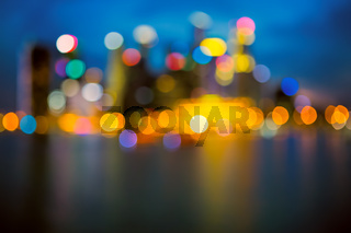 Defocused city lights