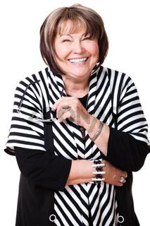 senior smiling woman