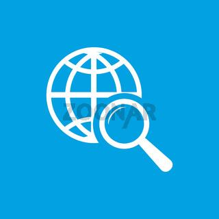 World scan white icon