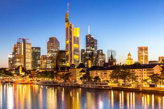 Frankfurt Skyscraper Germany dusk