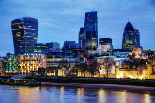 London city at the night time