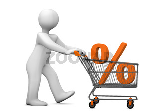 Mannikin Shopping Cart Percent