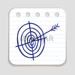 Doodle Target and Arrow icon