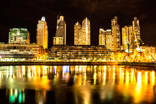 Puerto Madero in Buenos Aires at night