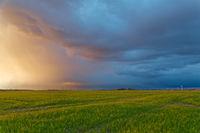 Abendwolken am Deich