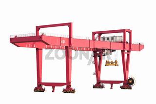 gantry container crane isolated