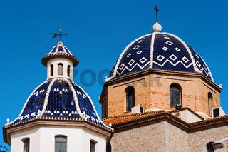 Virgin de Consuelo in Altea town. Spain